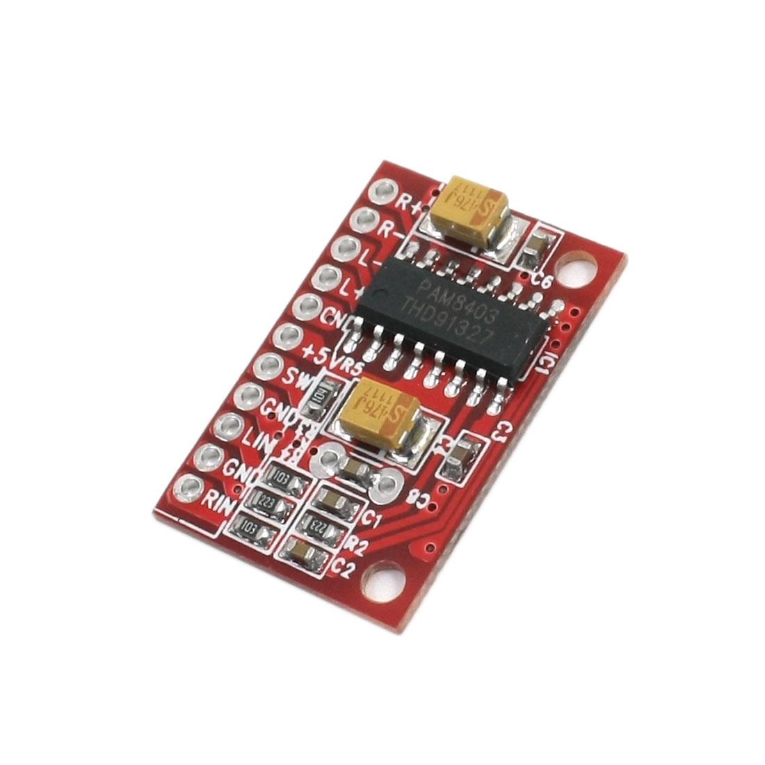 DC 3.6-5.5V Dual Track 3W+3W Mini Power Amplifier Module Board