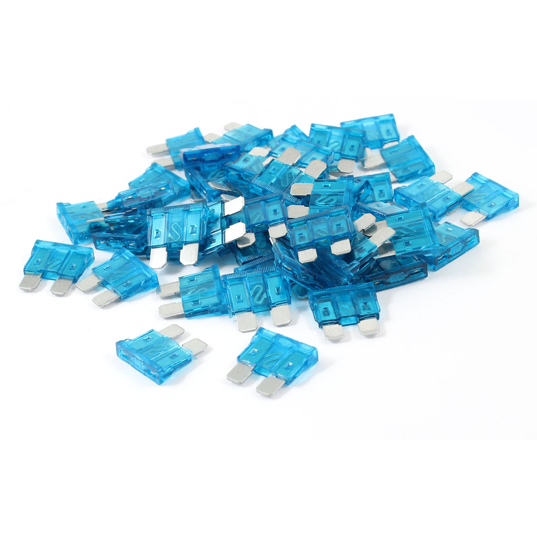 15A Plastic Housing Auto Car Motorcycle Flat Blade Fuse Blue 50pcs