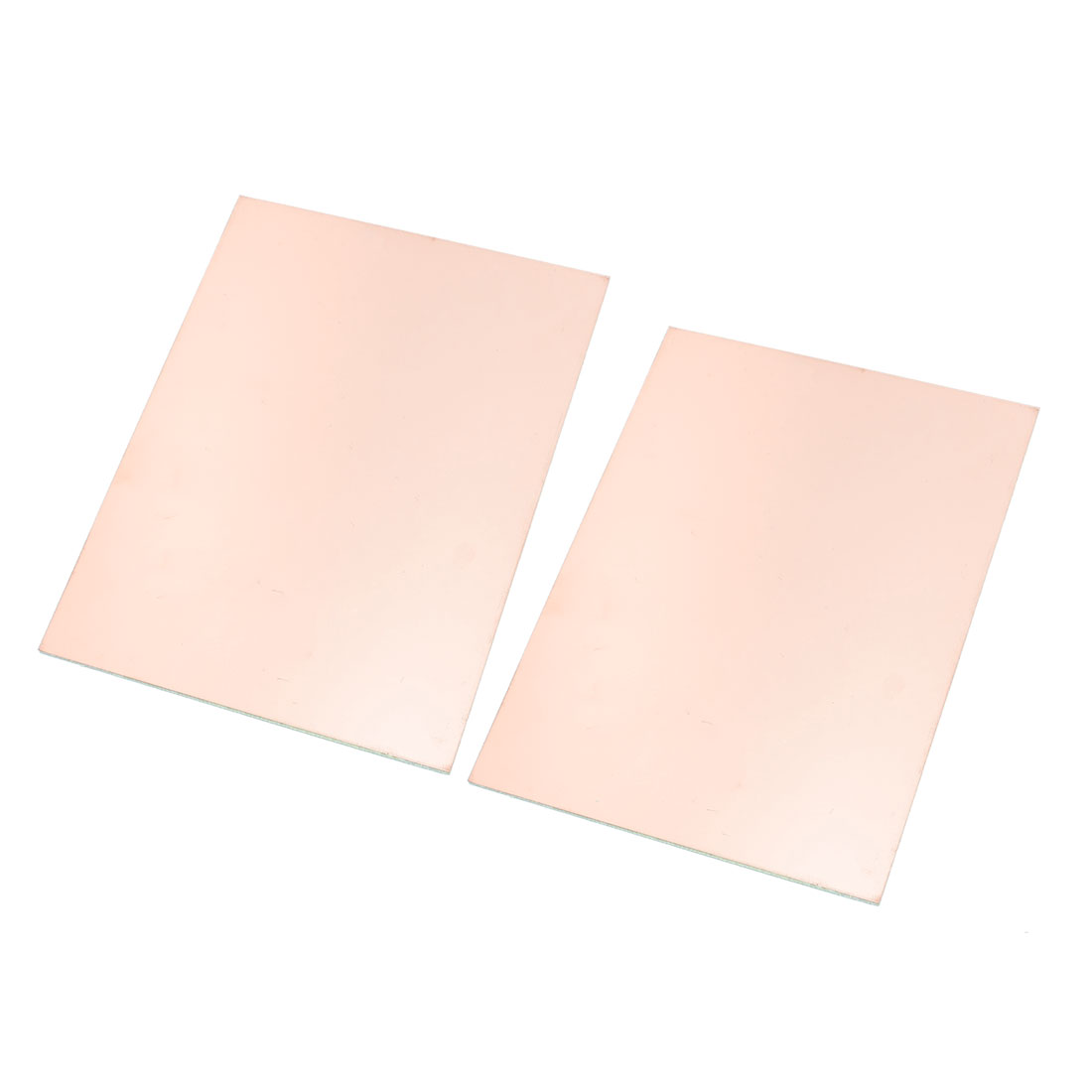 """2Pcs 8"""" x 6"""" Copper Foil Cover Coated Double Side PCB Printed Circuit Board"""