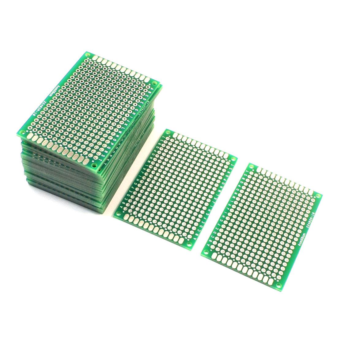 25Pcs Electronic DIY Double Sided Glass Fiber Prototyping PCB Board 4cm x 6cm