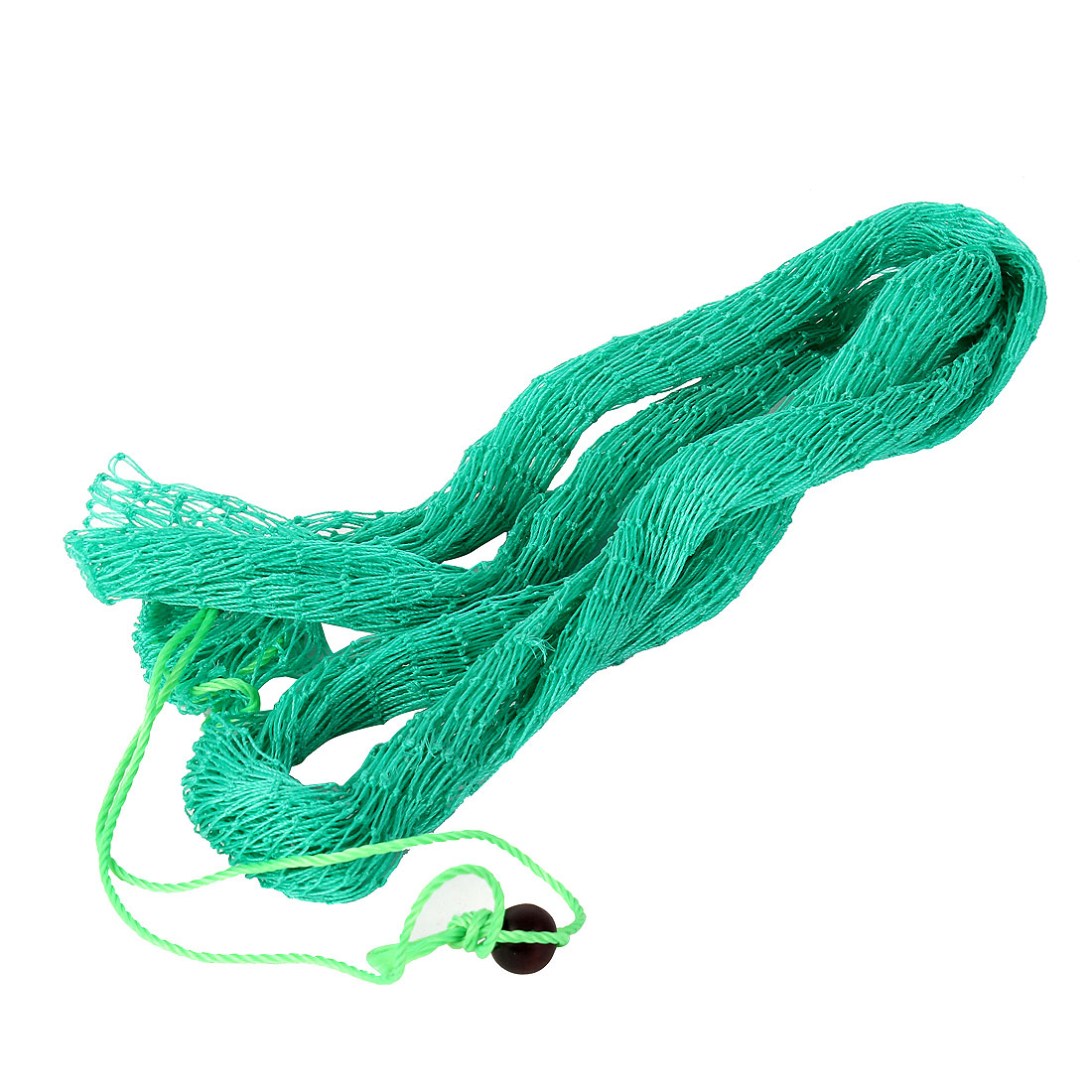 6.6Ft Long Drawstring Closure Folding Fish Lobster Fishing Landing Net Green