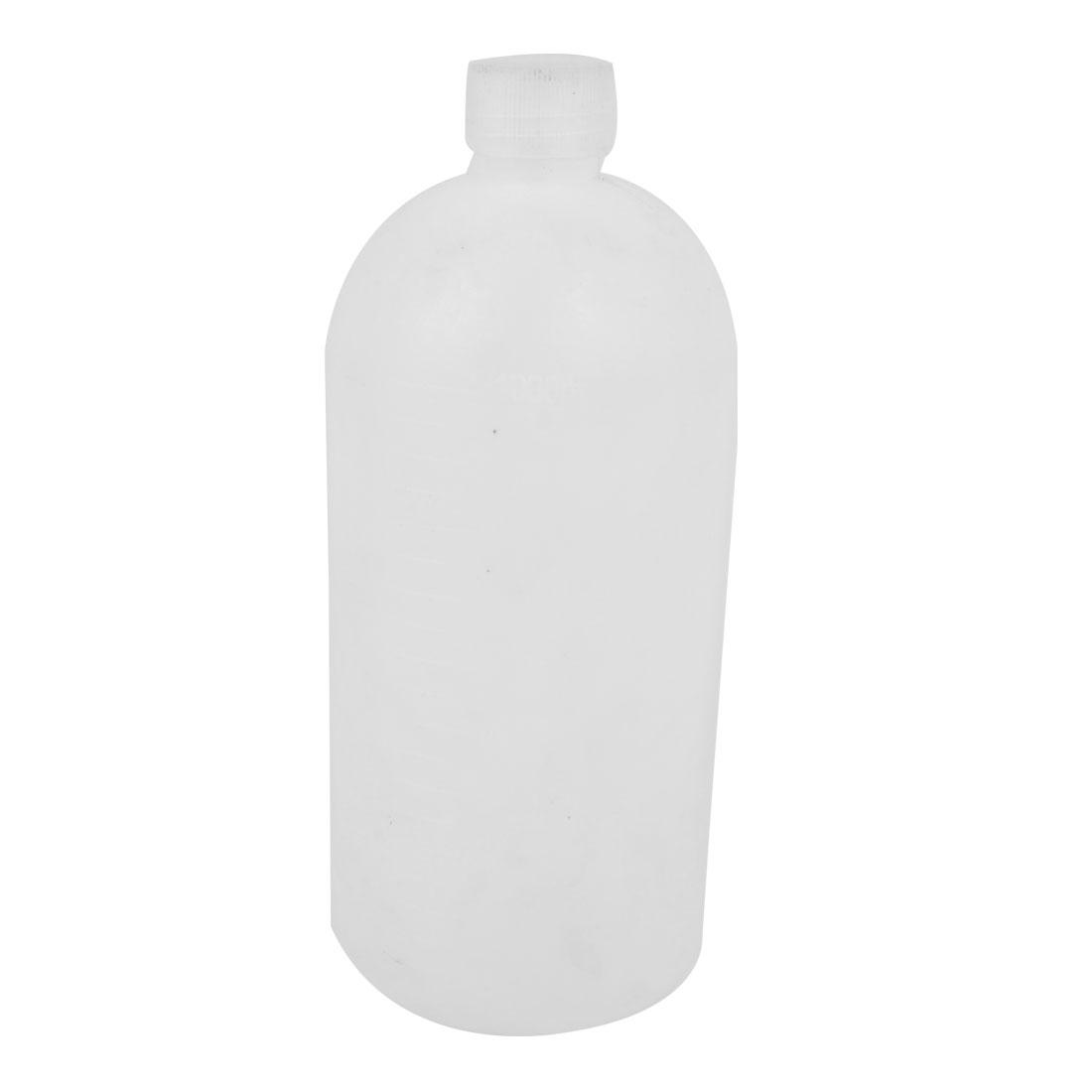 White Plastic 1000mL Capacity Laboratory Storage Narrow Mouth Bottle