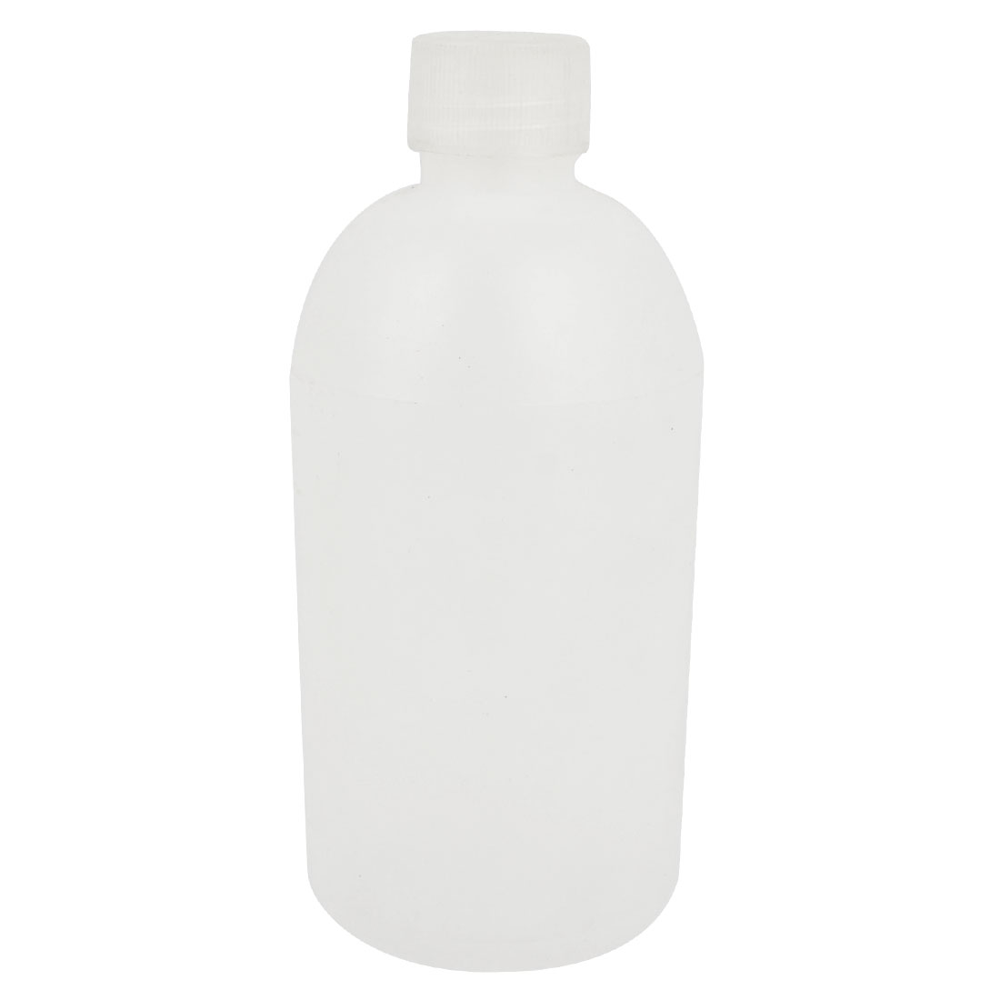 White Plastic 500mL Capacity Laboratory Storage Narrow Mouth Bottle