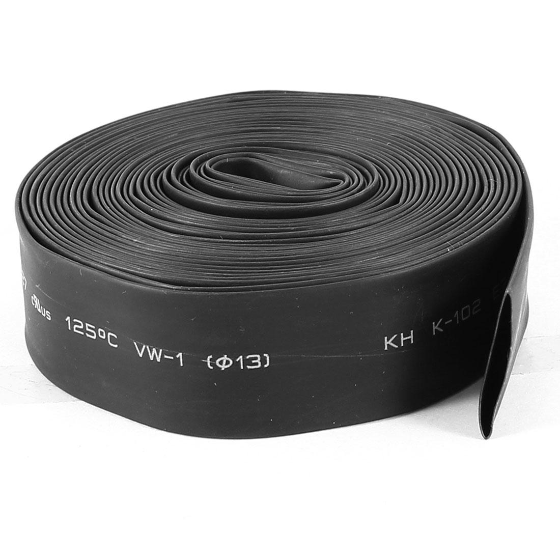 1 Meter 13mm Dia Ratio 2:1 Heat Shrinkable Shrinking Tube Black