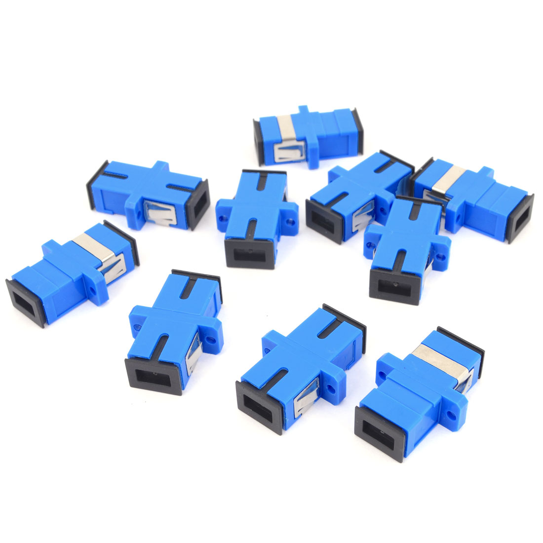10 Pcs SC/SC Simplex Fiber Optic Flange Adapter Cable Connector