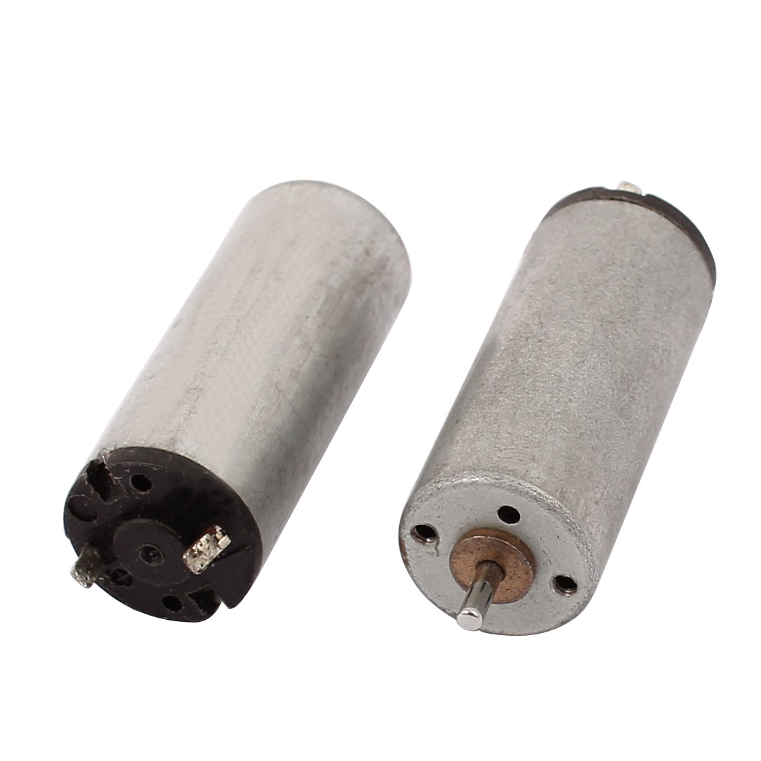 2pcs DC 3V 0.09A 14500RPM 2 Terminals Cylindrical Electric Micro Motor