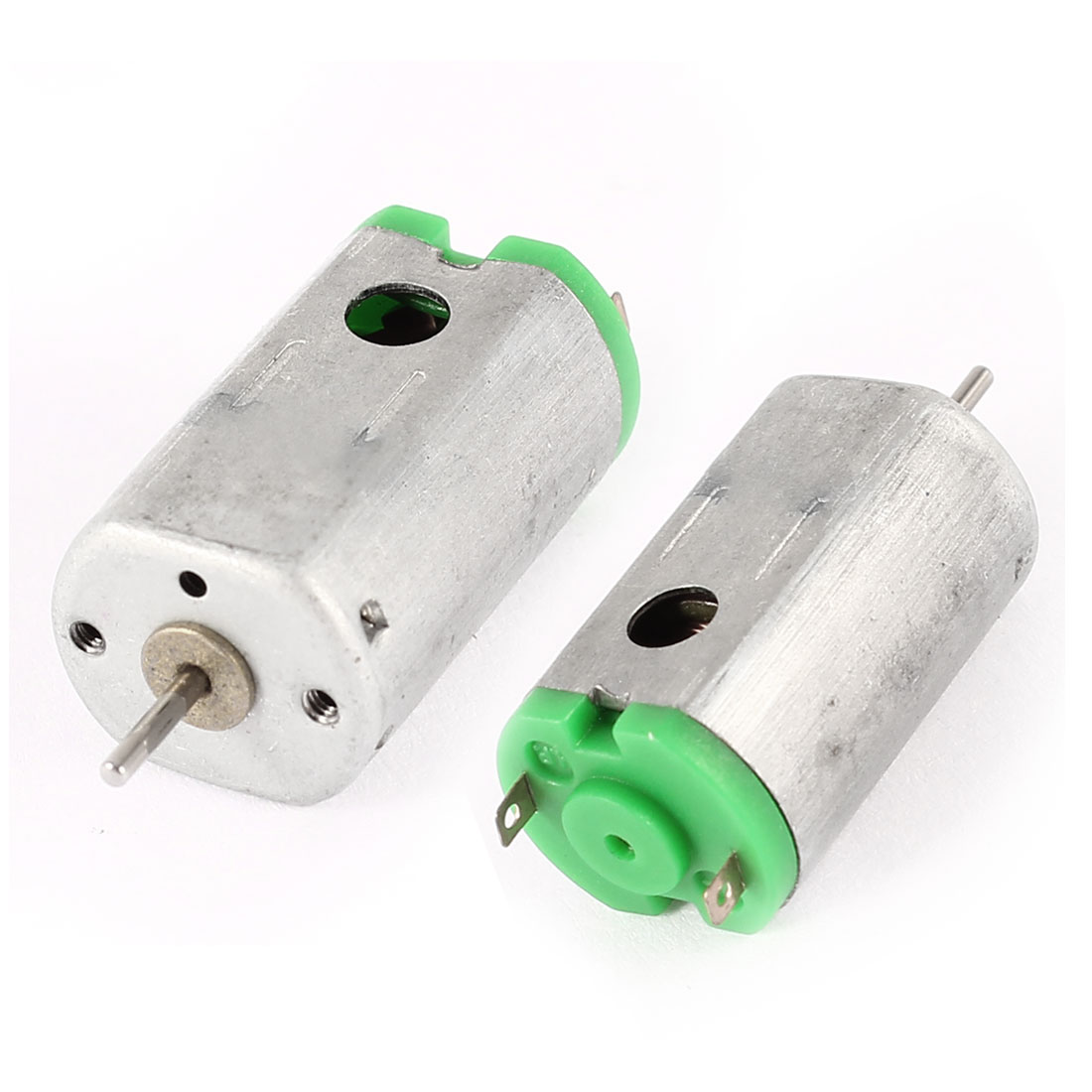 2 Pcs Magnetic Micro DC Motor 2 Pin Terminals 3-3.7V 19300-23800RPM Speed