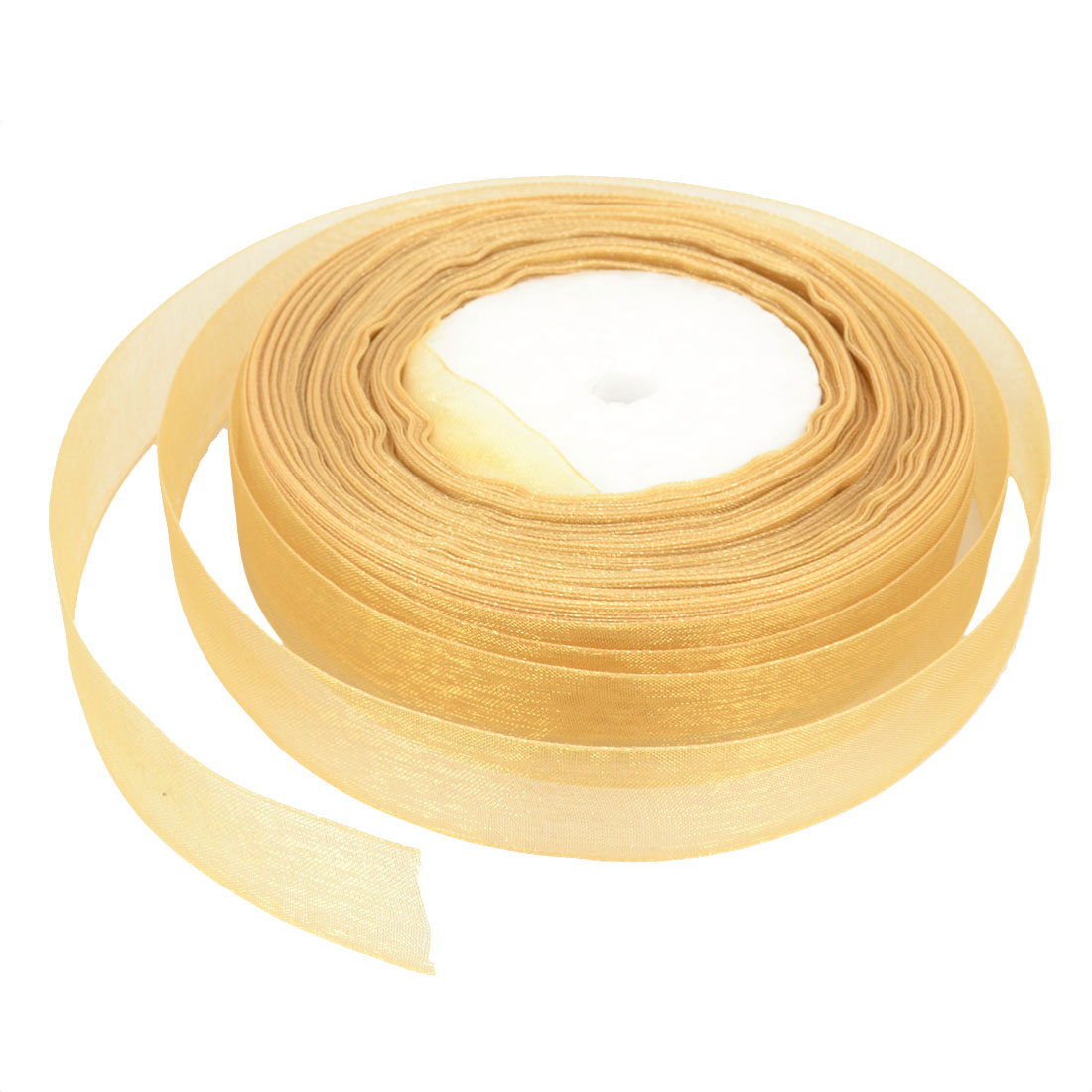 Gift Wrapping DIY Craft Wedding Detail Pure Pattern Sheer Organza Ribbon Roll Tape Khaki 20mmx50 Yard