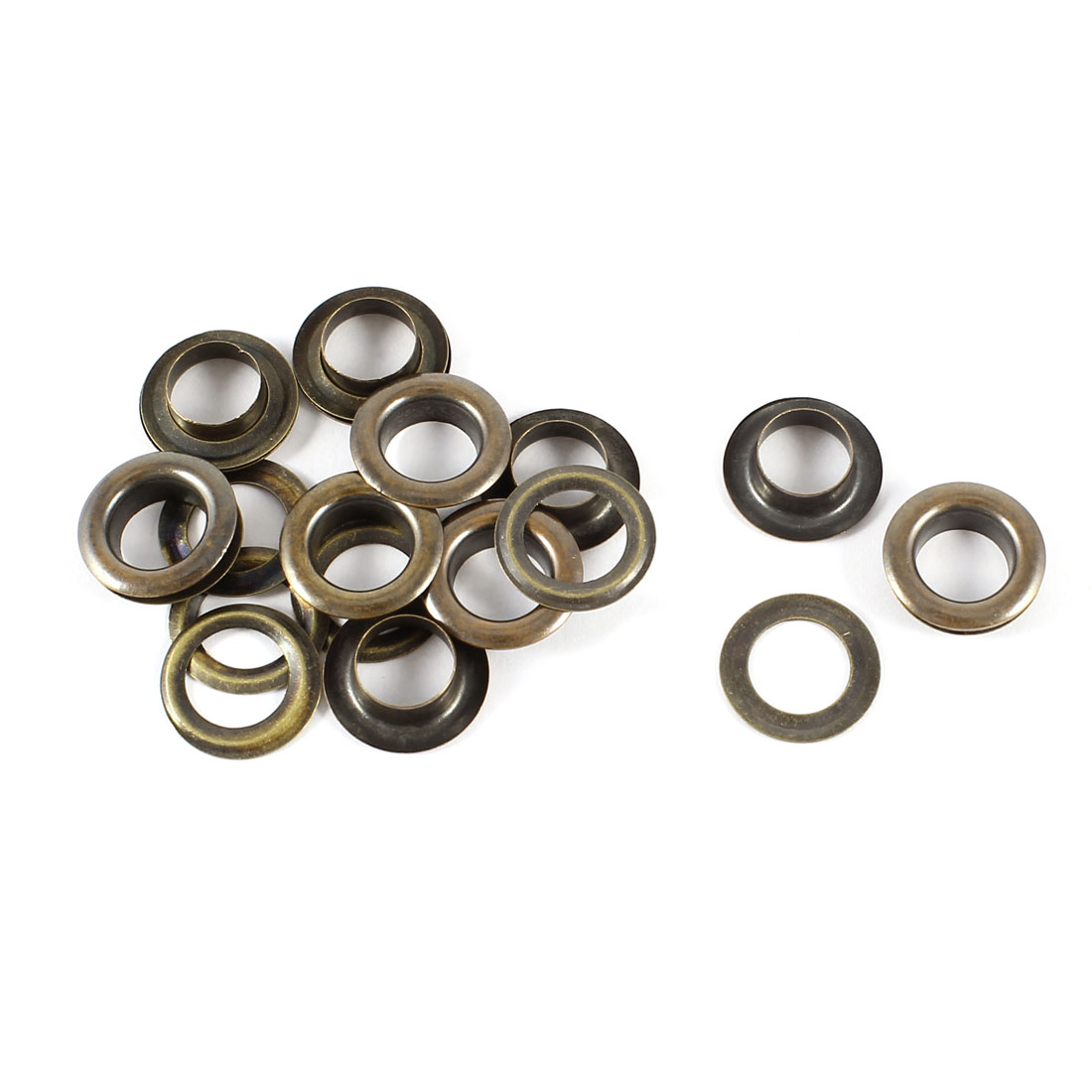 10pcs Bronze Tone 8mm Diameter Solid Brass Grommet Washers Eyelets Handy Tool