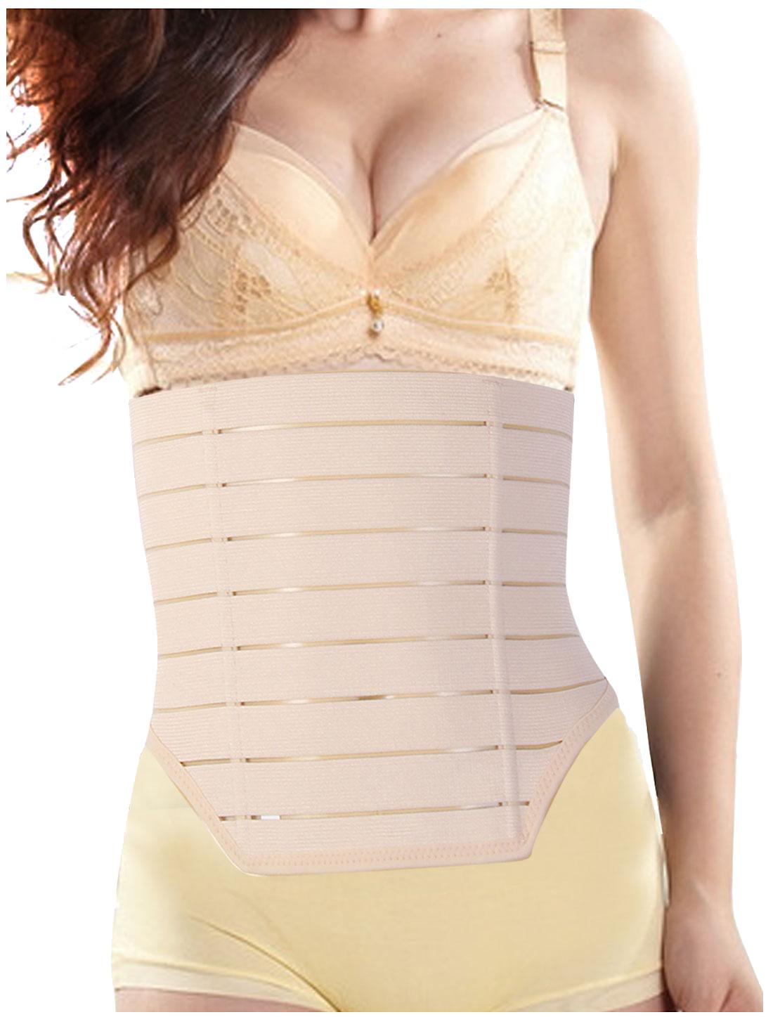 Lady Beige Belly Slim Body Shapewear Belt Corset Waist Cincher Trimmer Girdle Band XL