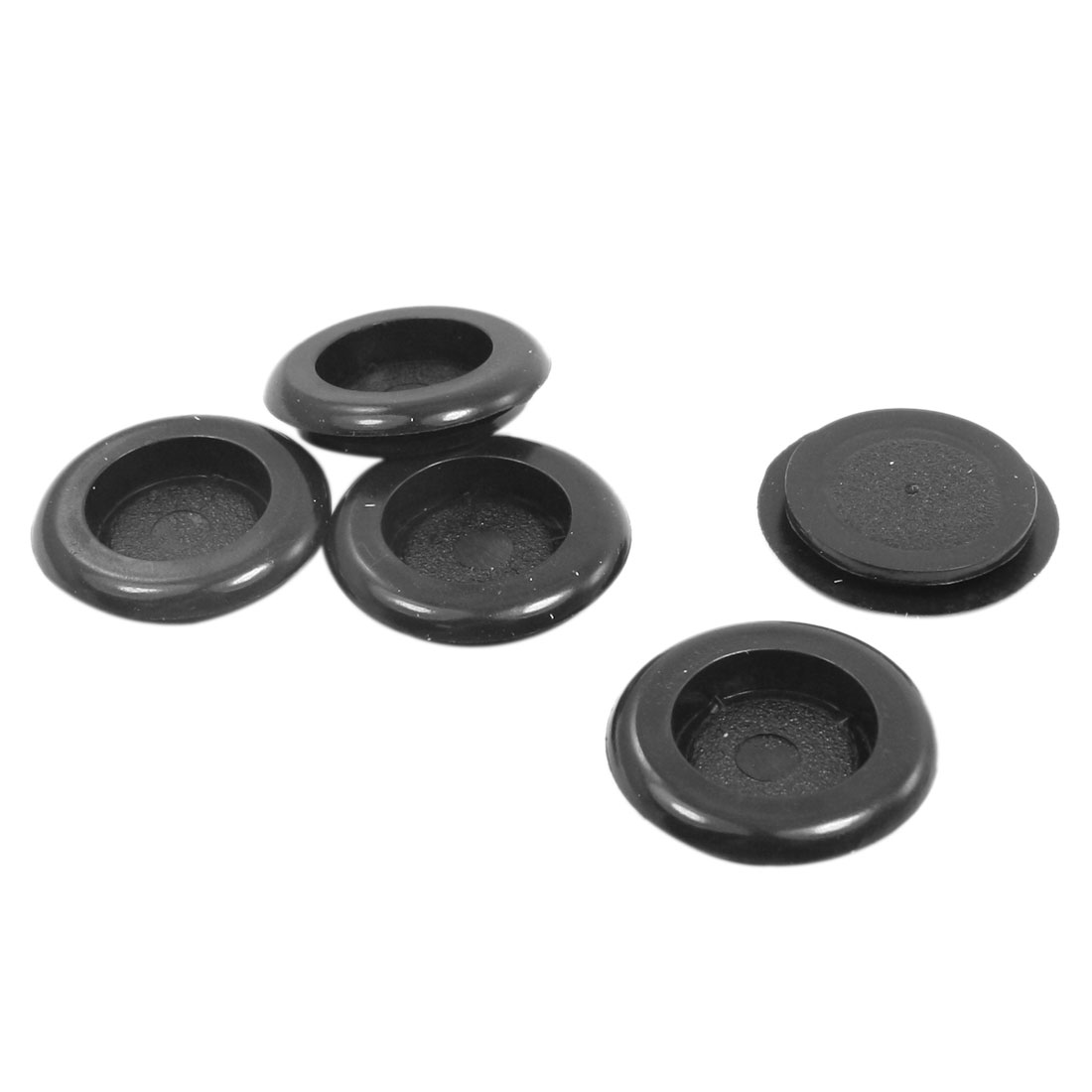 5 Pcs Black Armature Wire Single Sided 18mm x 22mm Rubber Grommet