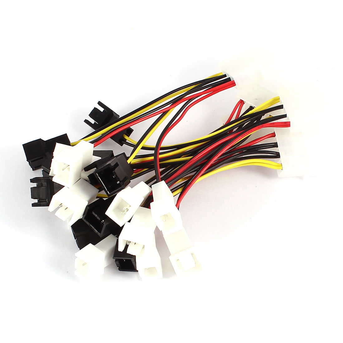 5 Pcs PC Cooling Fan 4 x 2P to 4 Pins Male IDE Power Cable Adapter Connector