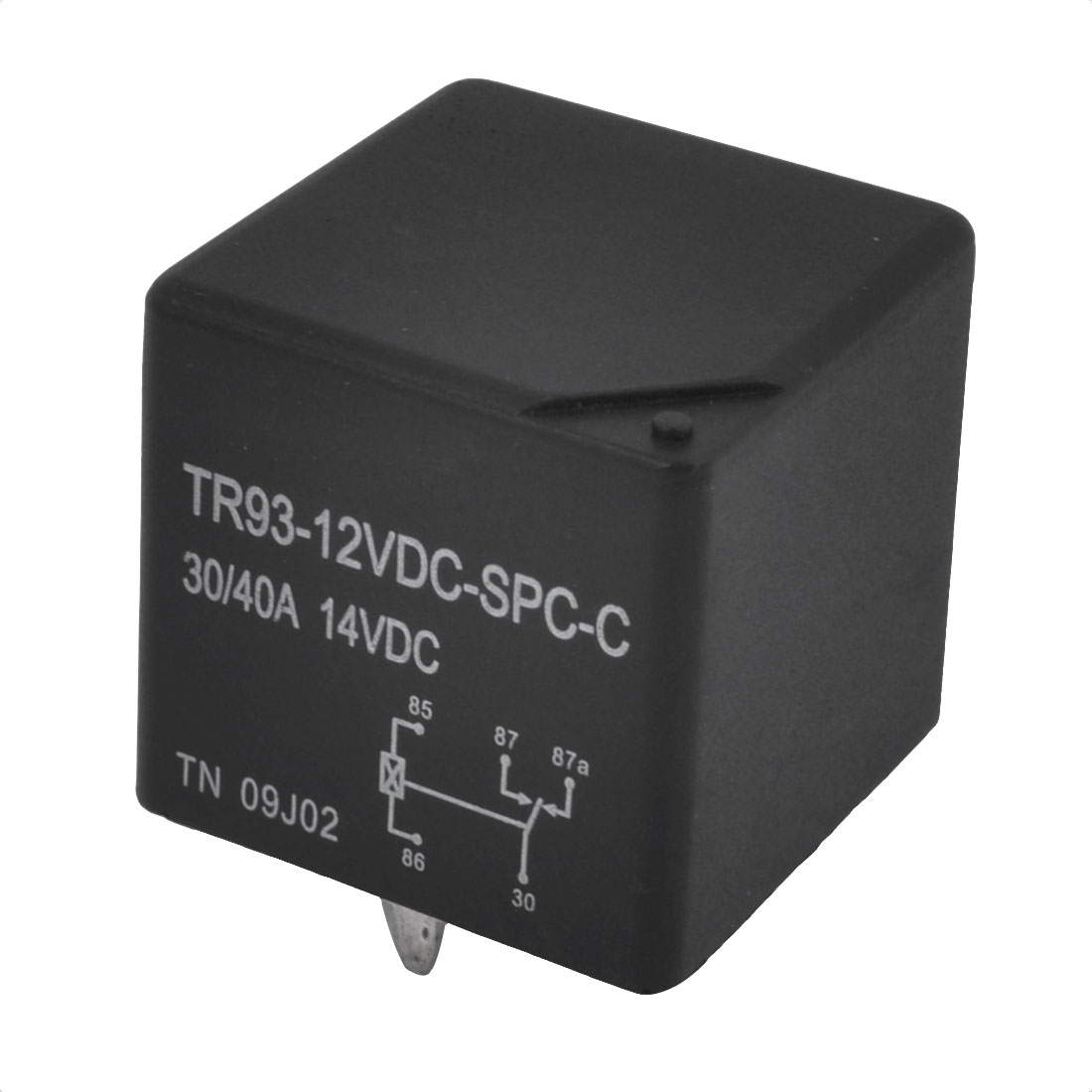 DC 12V Coil Voltage SPDT 1NO 1NC PCB Terminal Pin Soldering General Purpose Power Relay TR93-12VDC-SC-C