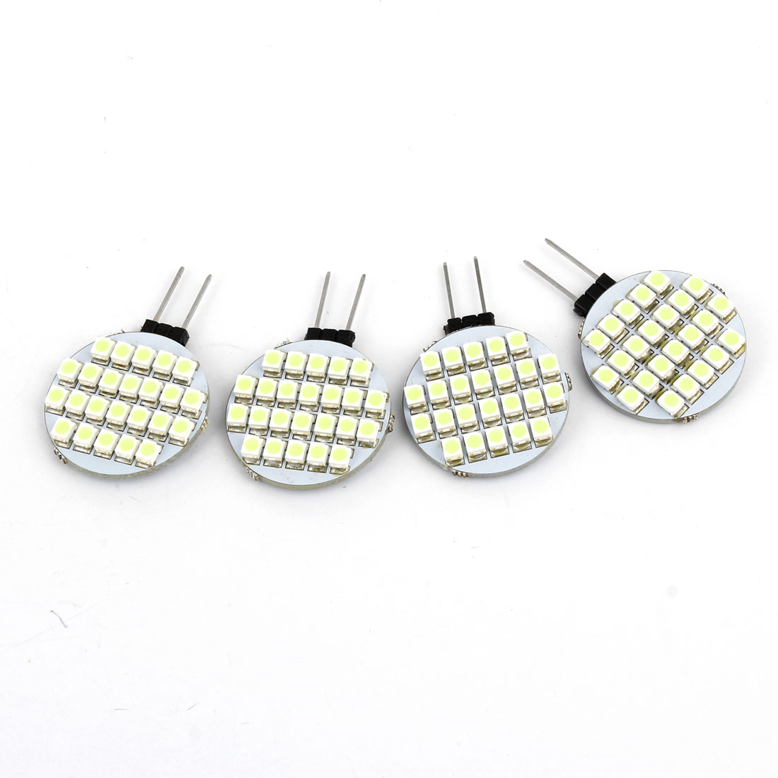 4 Pcs Auto Car Interior Decor Bin Pin White 1210 SMD 24 LED G4 Light Spotlight Signal Lamp 12V internal