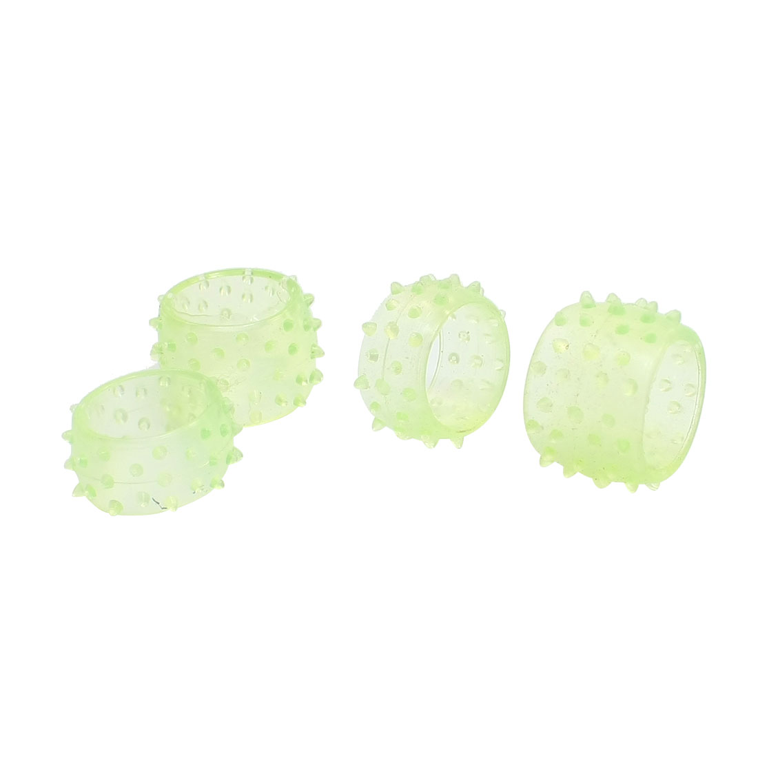 4Pcs 15mmx21mm Clear Green Rubber Crawler Tire Cover for RC Off-Road Car