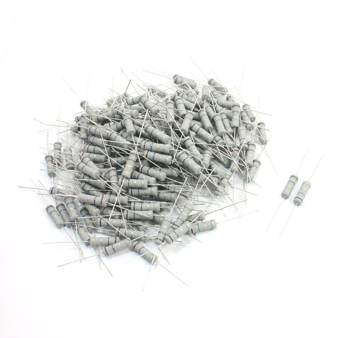 200Pcs 2 Watt 1.8 Ohm 5% Tolerance Colored Ring Resistance Metal Oxide Film Resistor Axial Lead