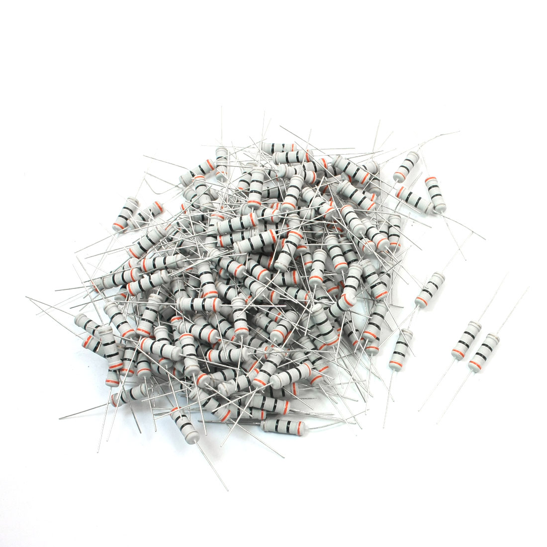 200Pcs 2 Watt 30 Ohm 5% Tolerance Colored Ring Resistance Metal Oxide Film Resistor Axial Lead