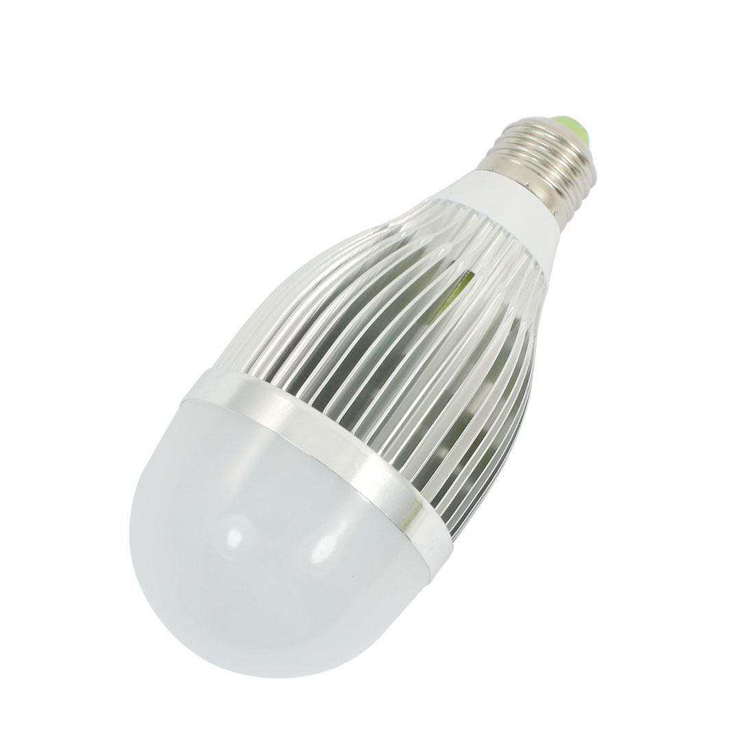 Household E27 Base 2.6cm Screw Dia 6000-6500K 900Lm White 9W 9 x 1W LEDs SMD Globe Ball Light Lamp AC 85-265V