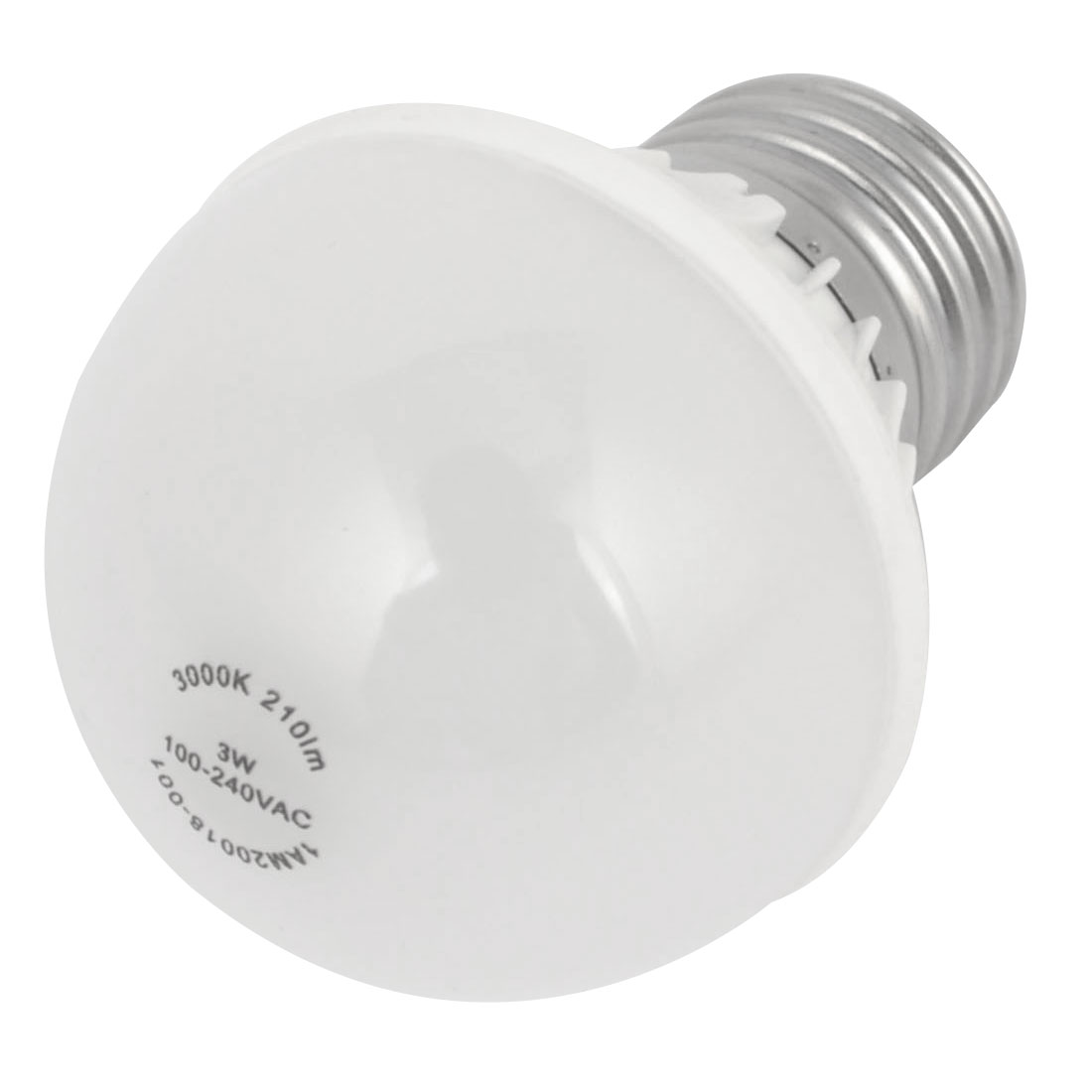 OU003-Bd AC 100-240V 3W 3000K E27 Warm White LED Globe Ball Light for Office