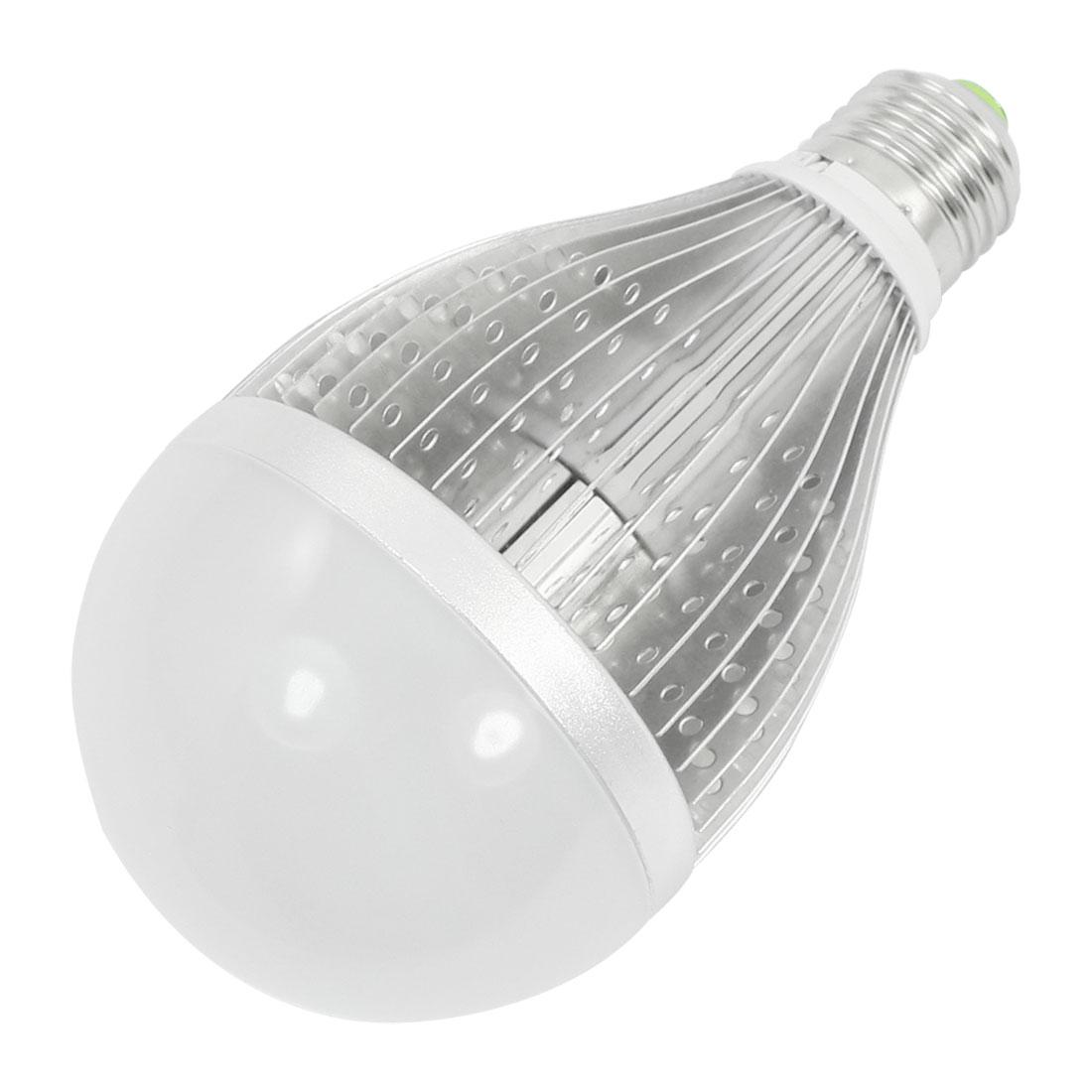 Household Indoor E27 10 x 1W LEDs 1000Lm 3000-3500K Warm White Globe Ball Light Bulb Lamp AC 85-260V