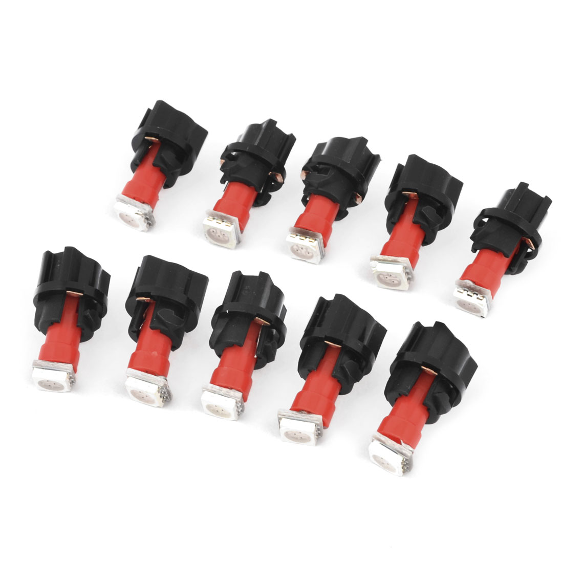 10Pcs DC 12V Car T5 5050 SMD LED Dashboard Light PC74 Socket Panel Red Internal