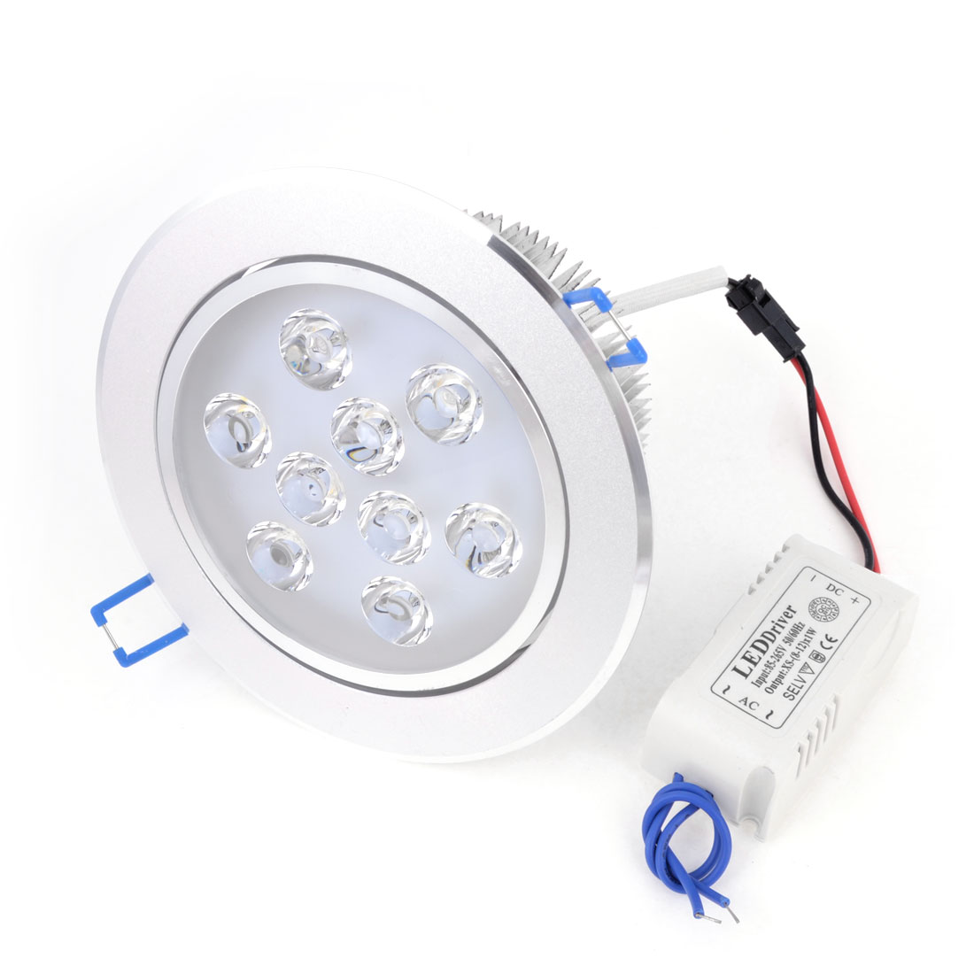 Round Shaped Ceiling Recessed 9W Warm White LED Down Light Spotlight