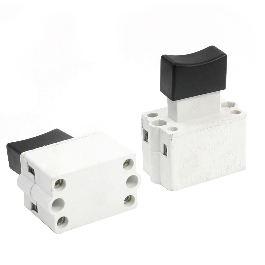 2 Pcs Replacing Momentary DPST 2NO Electric Trigger Switch for Cutting Machine