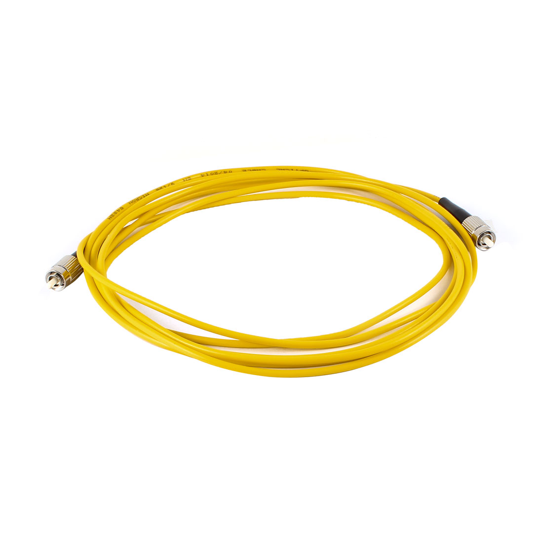 Yellow FC to FC Single Mode Single Core SM Simplex 9/125 Fiber Optic Jumper Cable 3mm 3Meter 10ft