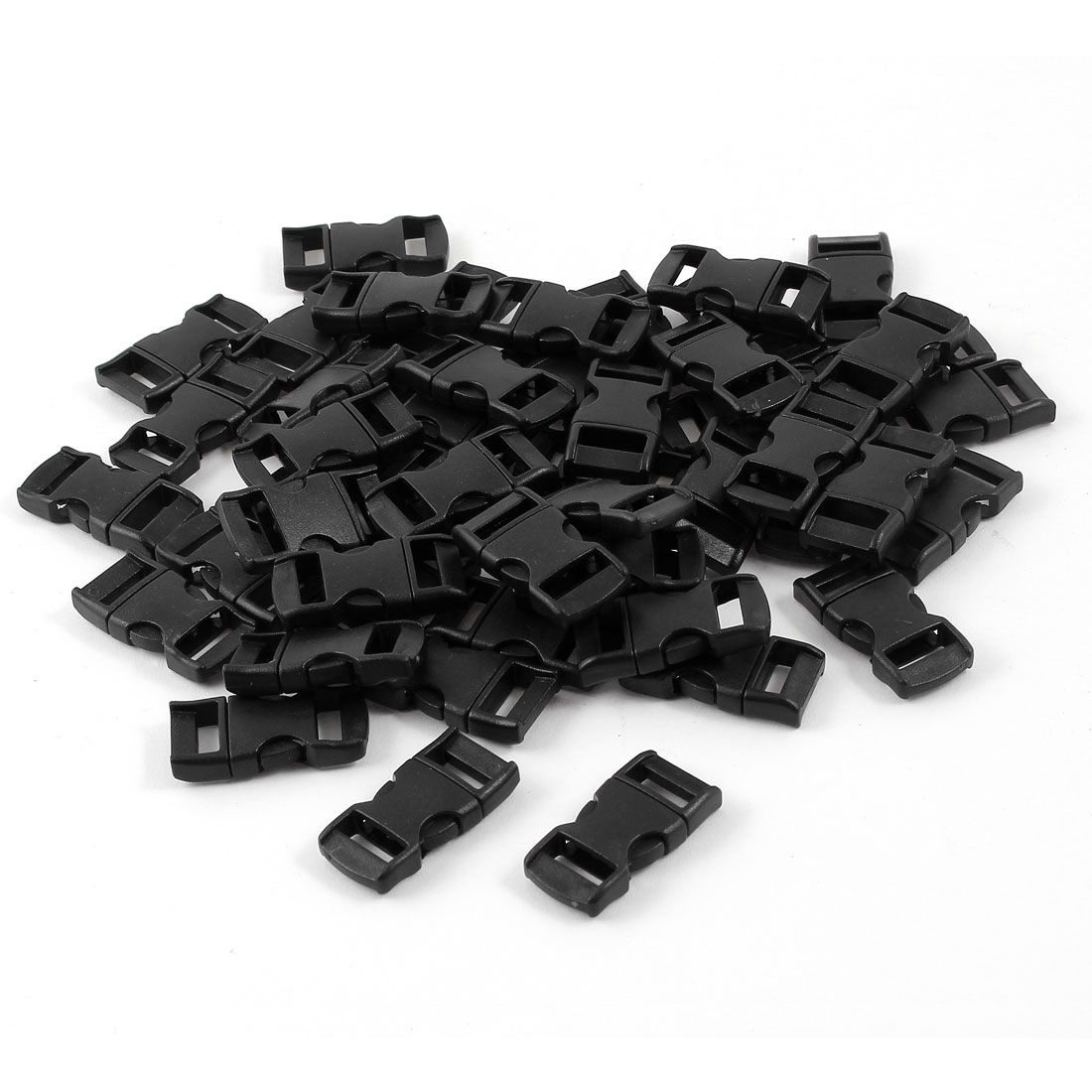 50pcs Black Hard Plastic Luggage Boxes Release Buckle for 1cm Width Band