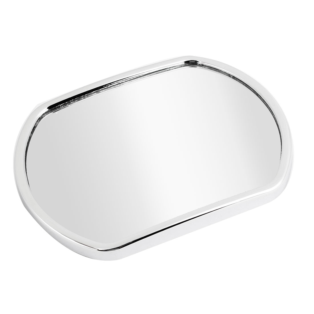 13.5cm x 10.5cm Silver Tone Stick-on Convex Rearview Blind Spot Mirror for Car