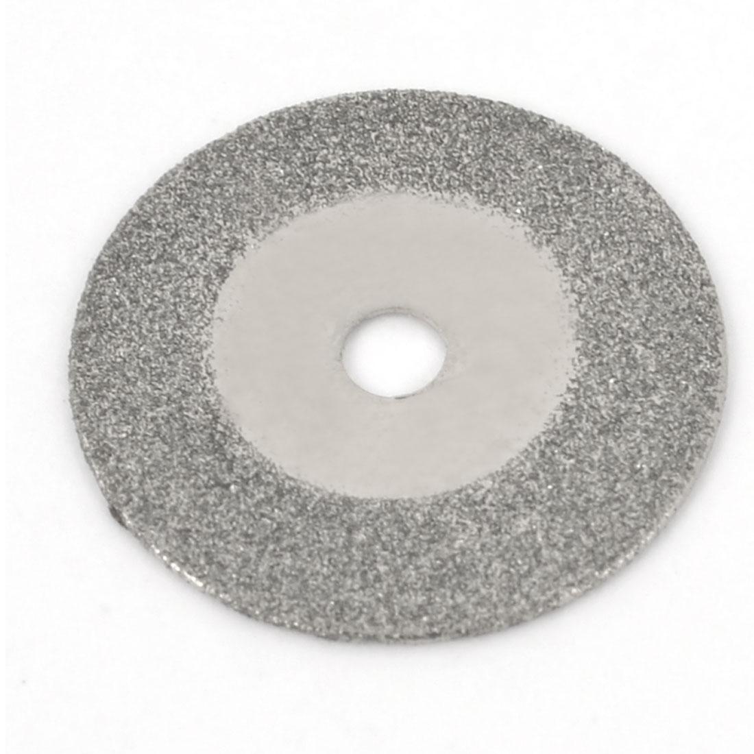Silver Tone 20mm Dia Diamond Coated Glass Grinding Cutting Cut-off Wheel Disc