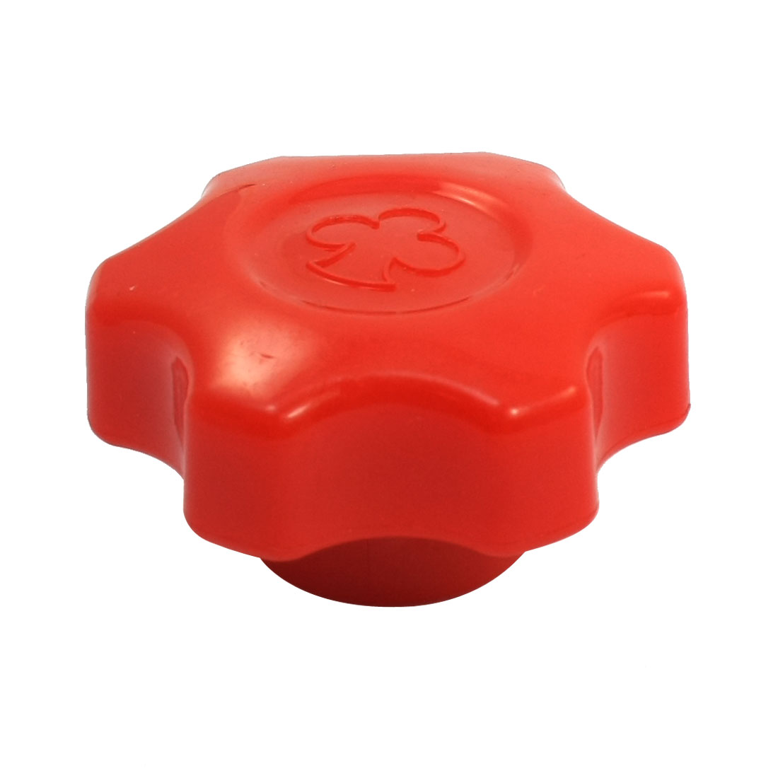 M12 60mm Dia Thread Plastic Six Pointed Star Head Clamping Knob Red