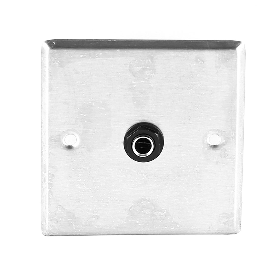 "Metal 6.35mm 1/4"" Socket Jack Microphone Mic Wall Plate Panel 85mm x 85mm"