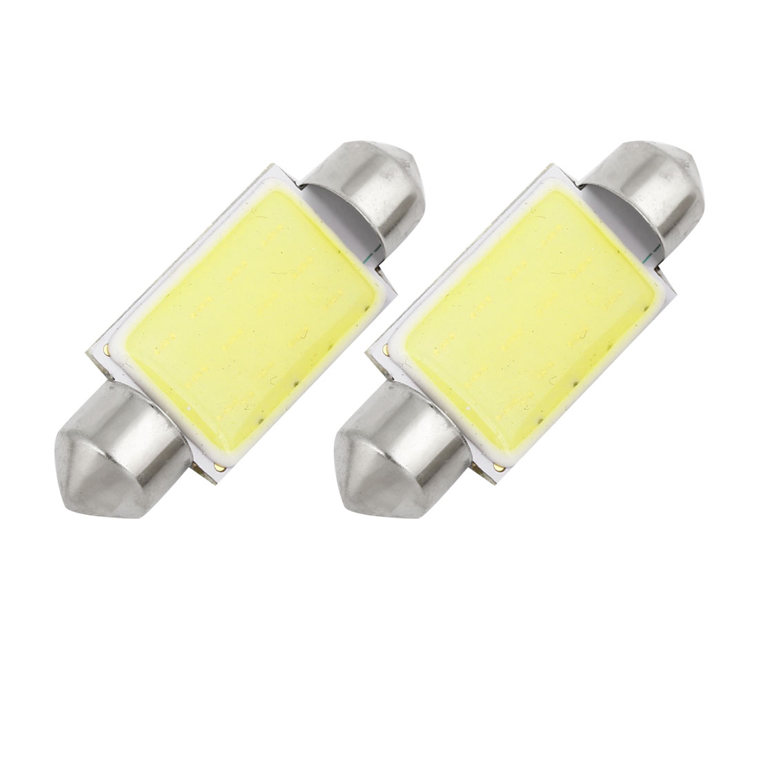 2 Pcs Auto Car 39mm Length White 12 COB Festoon Dome Light Bulb Lamp Internal