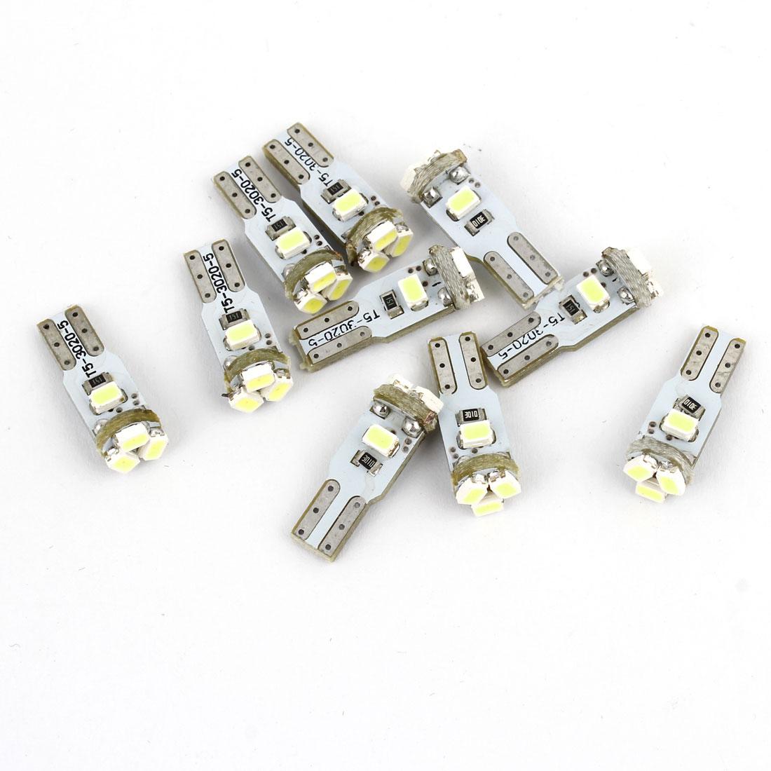 10 Pcs White 5 3020 LED T5 Turck Van Dashboard Lights Lamps Bulbs Internal
