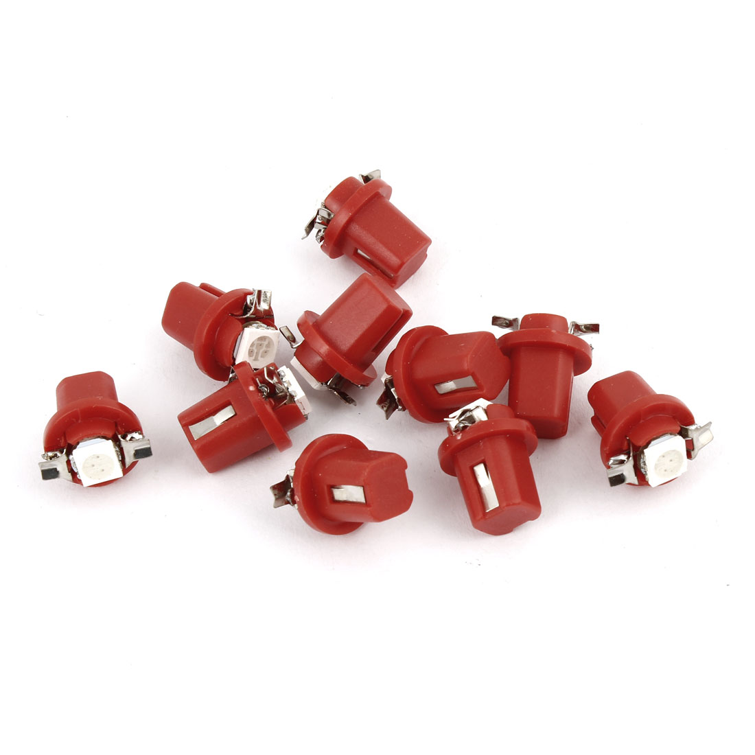 10 Pcs Car Red B8.5D 5050 SMD LED Dashboard Guage Indicator Light Bulb Internal
