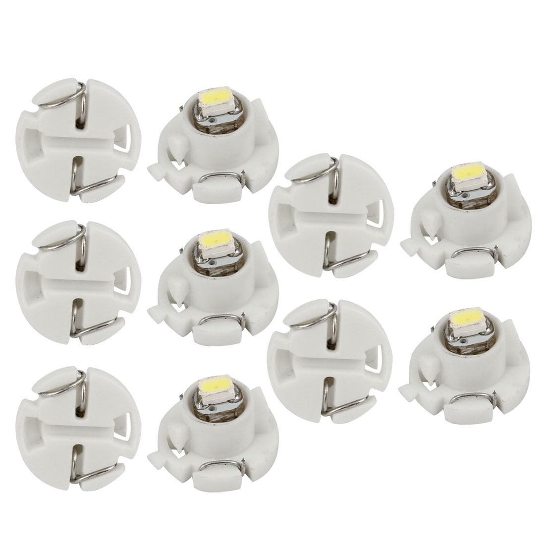 10 Pcs T4.2 White 3020 1 SMD LED Dashboard Meter Panle Light Bulb for Car Internal