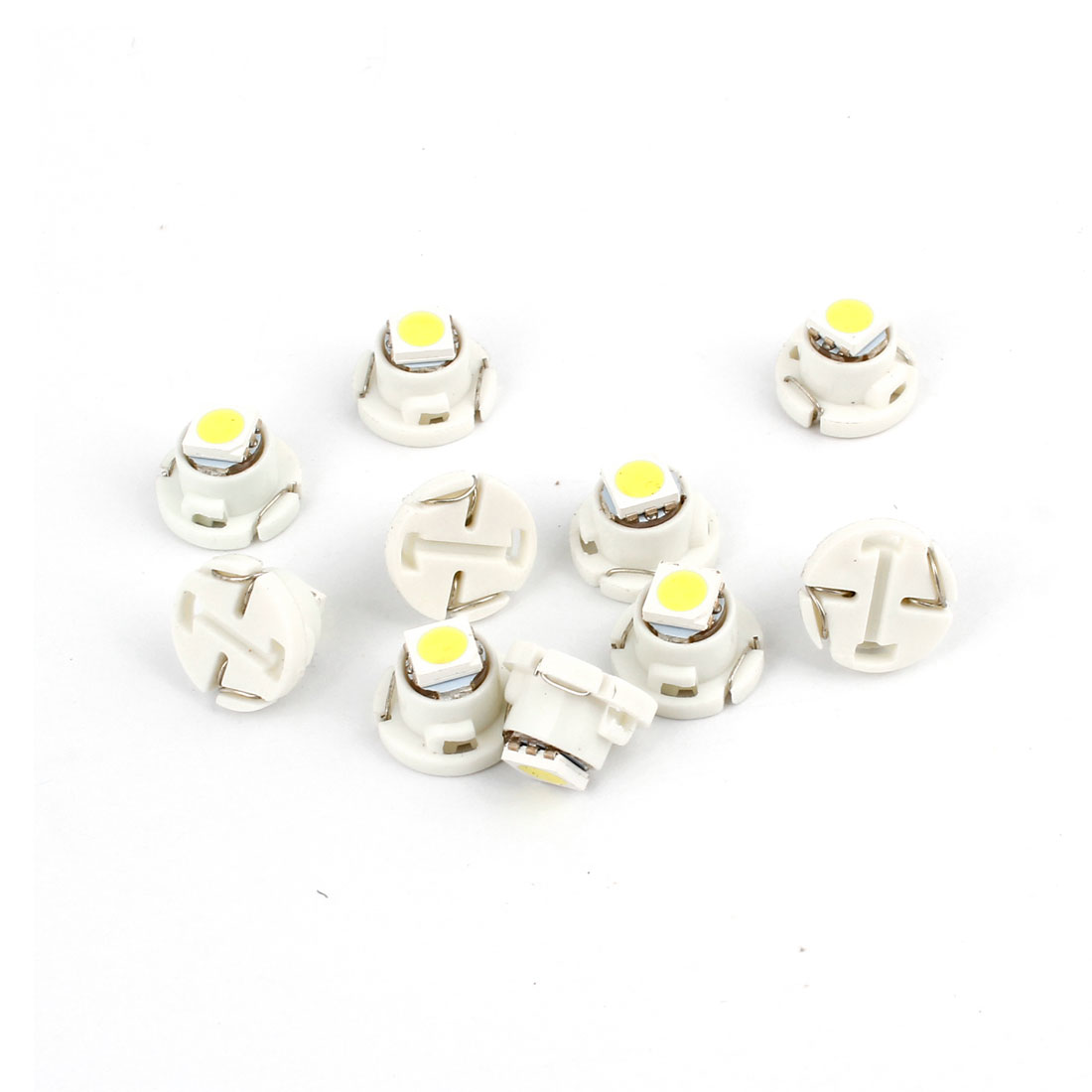 10 Pcs T4.7 White 5050 LED SMD Auto Car Dashboard Panel Meter Light Internal