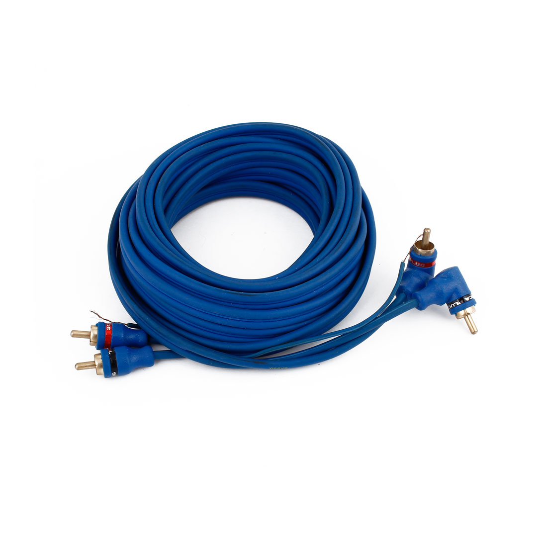 5 Meter Blue Double RCA M/M Adapter Stereo Audio Extension Cable