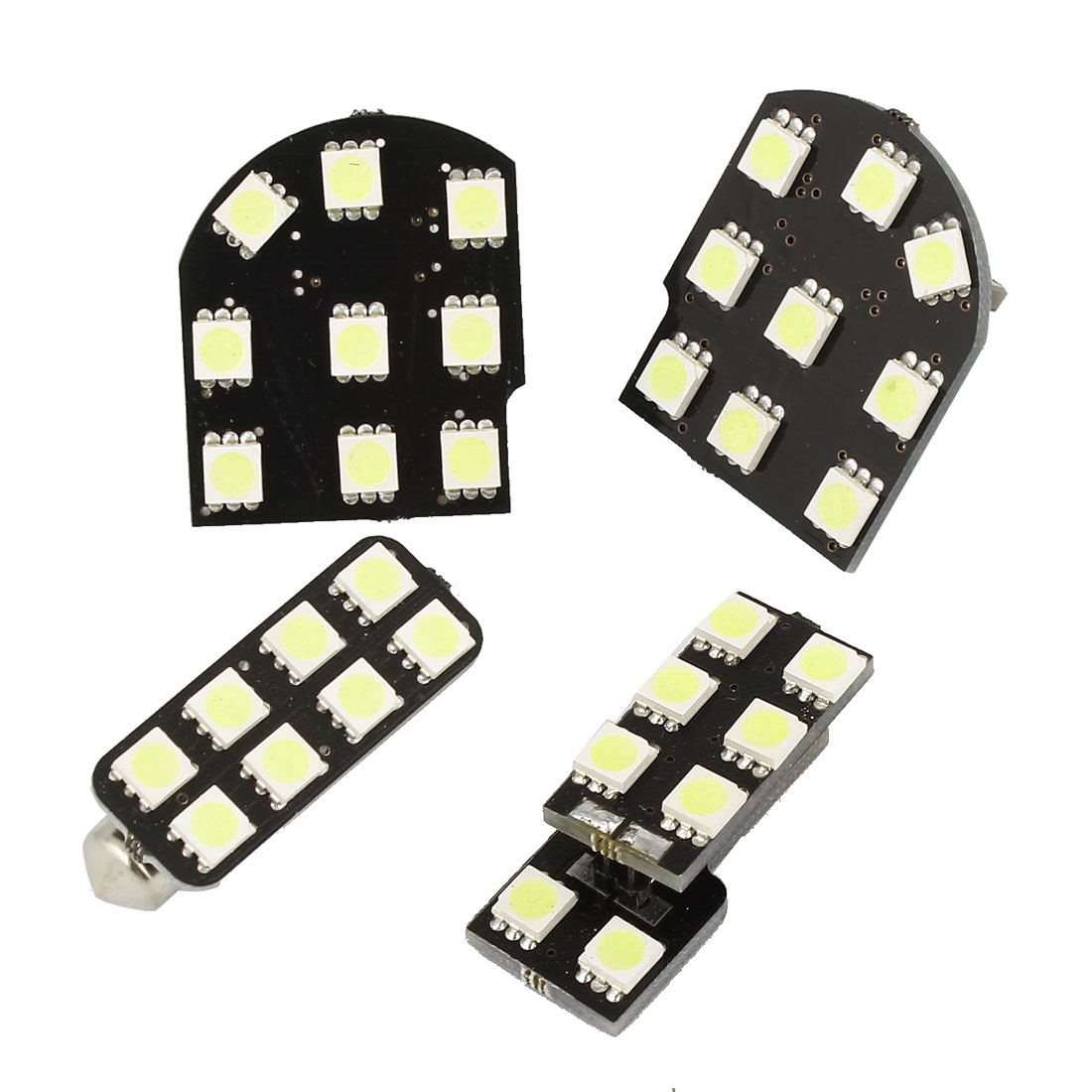 4 in 1 5050 SMD White Interior Dome Wedge Reading Light Bulb Set for Encore