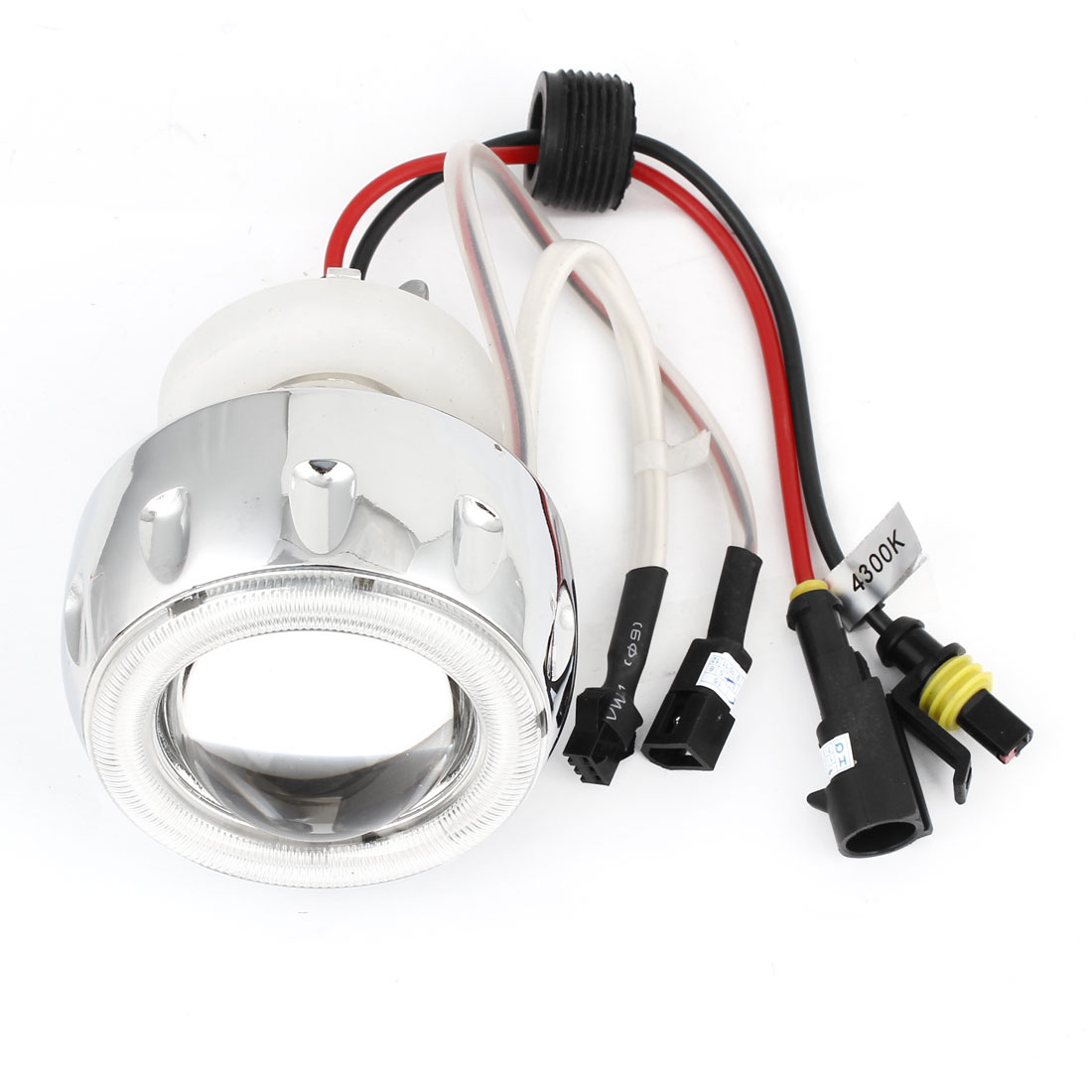 DC 12V 4300K Motorcycle Motorbike HID Xenon Projector White Lens Lamp Kit