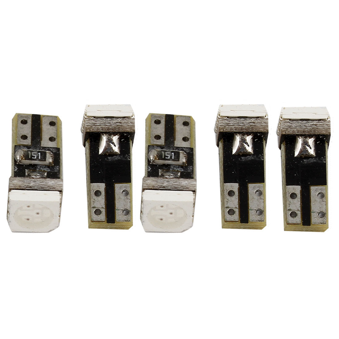 5 Pcs Yellow 5050 SMD LED Dashboard Gauge Light Turning Lamp Backup Bulb 12V for Car internal