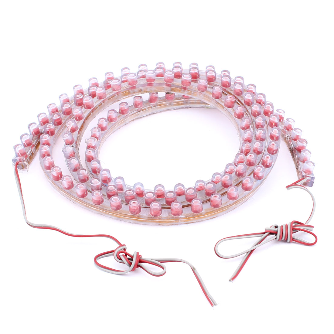 Car Interior Decoration Flexible Lamp 120 LED Light Strip Bar Red 120cm 12V internal
