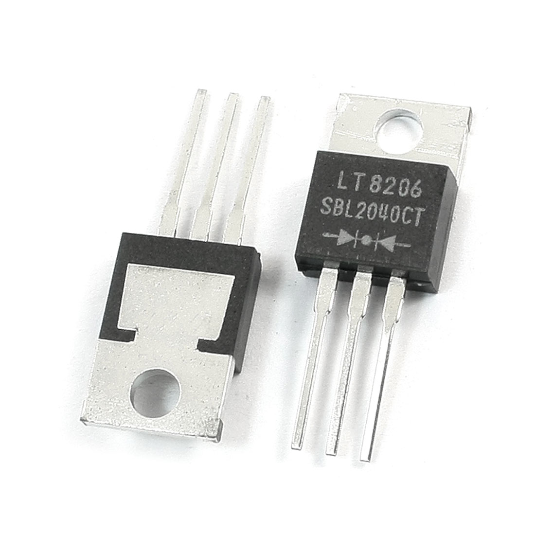2Pcs SBL2040CT Electronic 3 Terminals Through Hole Mounting Dual High-Voltage Power Schottky Barrier Rectifier Diode