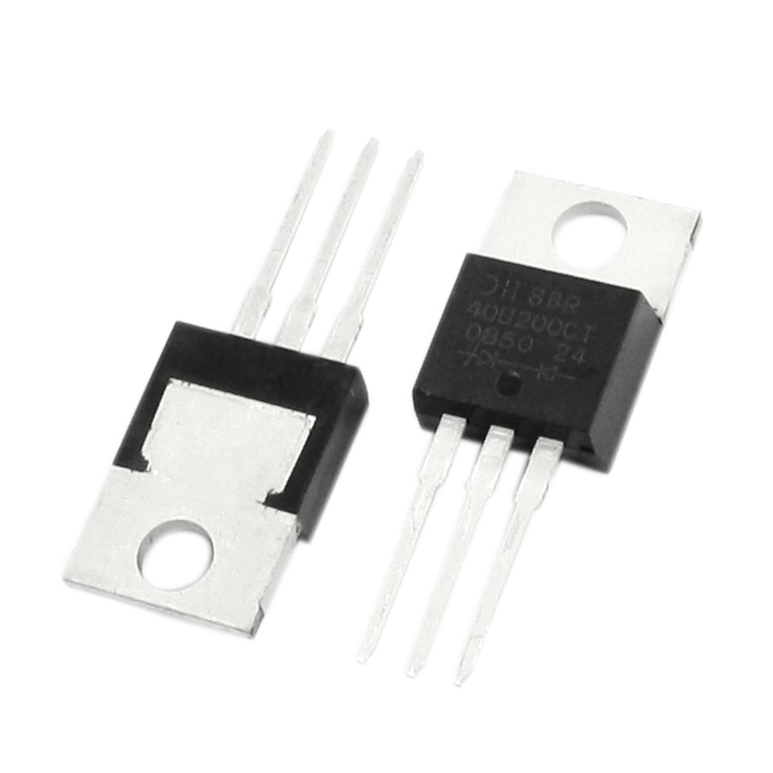2Pcs SBR40U120CT 40A 120V Electronic 3 Terminals Through Hole Mounting Dual High-Voltage Power Schottky Barrier Rectifier Diode