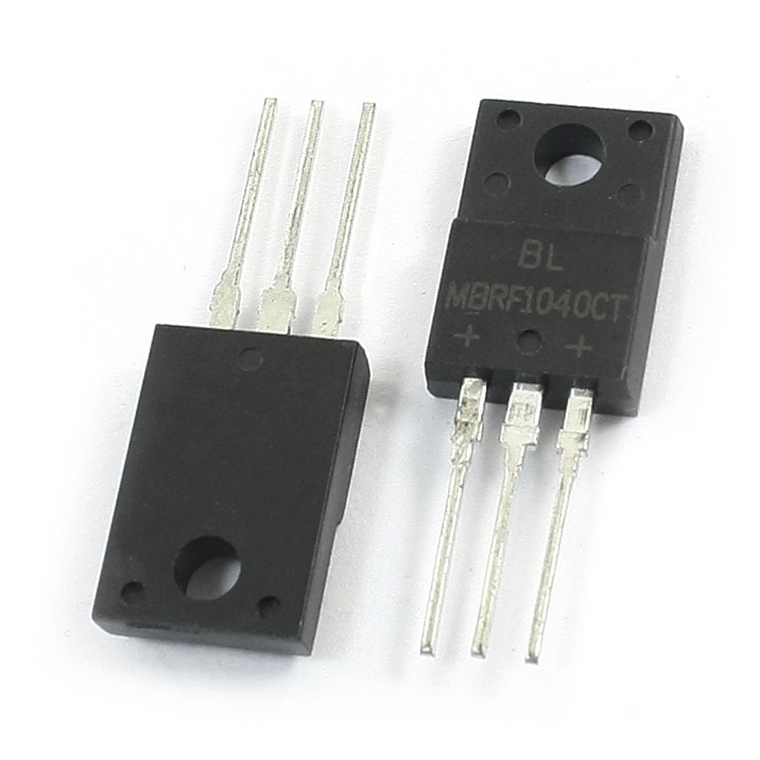 2Pcs MBRF1040CT Electronic 3 Terminals Through Hole Mounting Dual High-Voltage Power Schottky Barrier Rectifier Diode