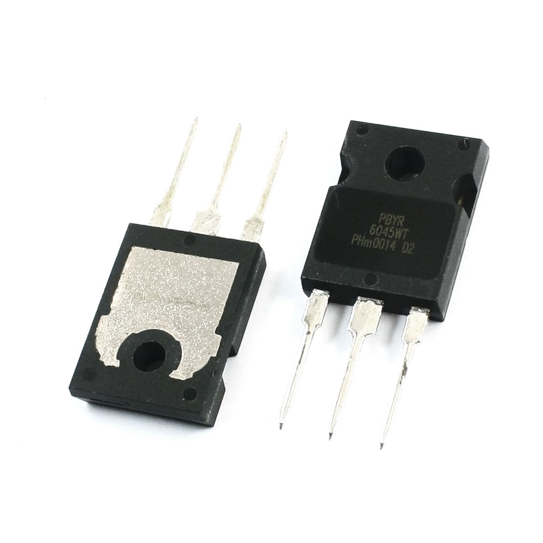 2Pcs PBYR6045WT Electronic 3 Terminals Through Hole Mounting Dual High-Voltage Power Schottky Rectifier Diode