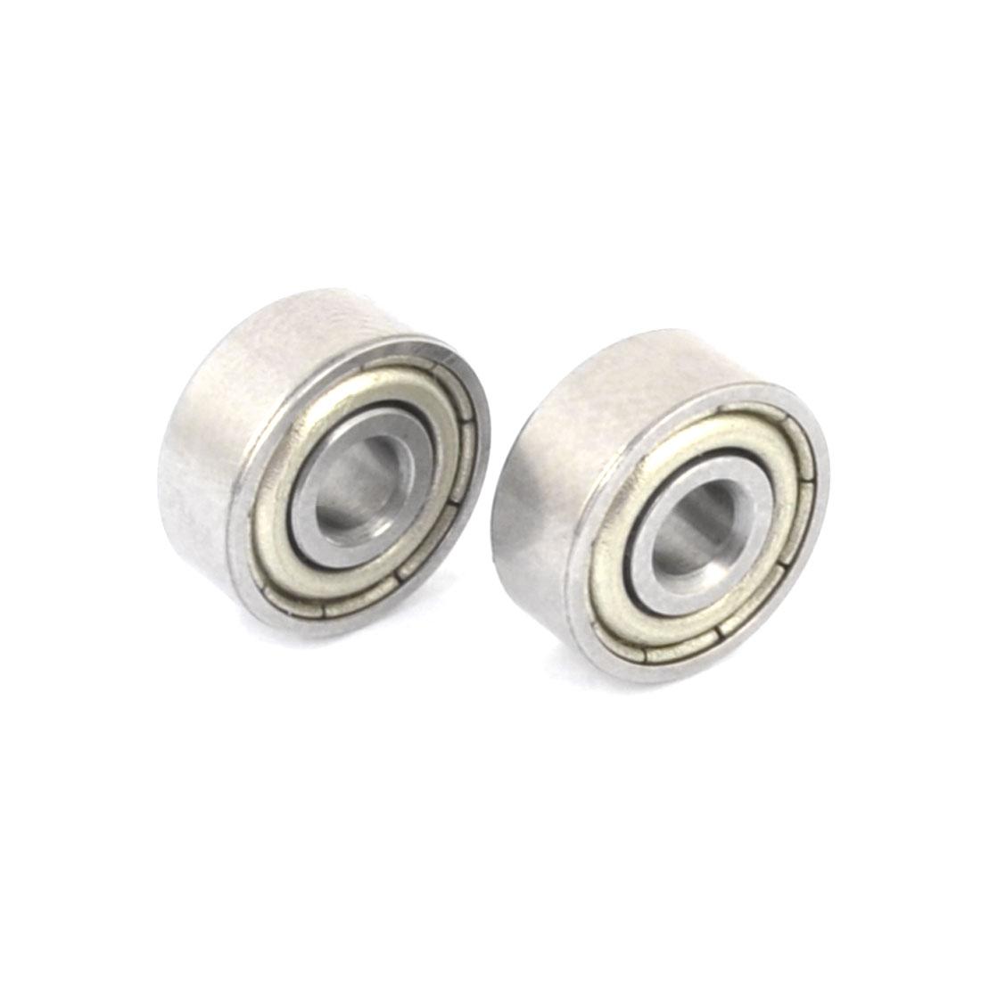 2 Pcs 623Z 3mm x 10mm x 4mm Single Row Sealed Deep Groove Ball Bearings