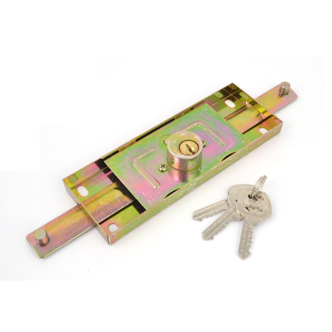 Bronze Tone Slot Keyway Rolling Shutter Door Roller Key Lock