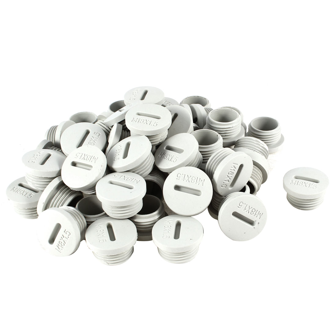 50 Pcs M18 18mm Diameter Round Gray Plastic Furniture Chair Table Legs Blanking End Cap Tubing Tube Insert